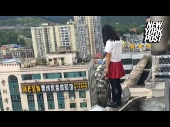 17階から飛び降り自殺しようとする女生徒