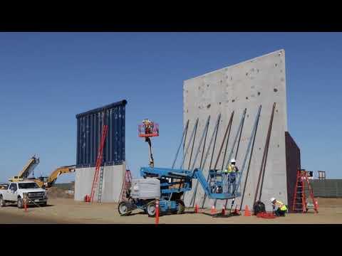 メキシコ国境沿いに建設される予定の壁