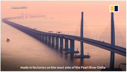 【出典:South China Morning Post】10月に開通した「香港・珠海・マカオ大橋」