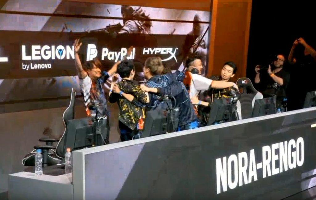 【出典:レインボーシックス シージESPORTS/YouTube】準決勝進出が決定した日本の野良連合