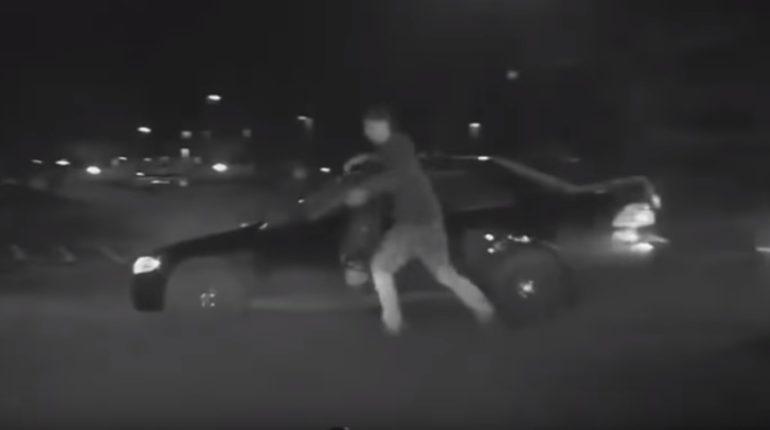 【出典:ODN/YouTube】車上荒らしの男、自分の失態で逮捕される。